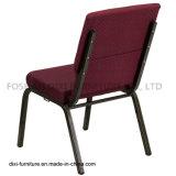 教会椅子をとのスタックする教会家具のバーガンディによって模造されるファブリックはバックルおよび本の袋を接続する