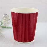 Tazas de papel disponibles impresas insignia respetuosa del medio ambiente, taza de papel del café con la tapa