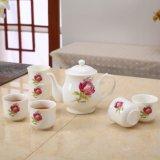 Insieme di caffè di ceramica di ceramica dell'insieme di tè del padellame dell'insieme di tè della porcellana europea