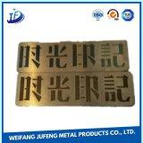 Chave escovada da fabricação do aço inoxidável que carimba a placa conhecida de alumínio da gravura