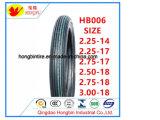 Des pneus pour motos 2.25-14 2.25-17 2.50-17 2.75-17 2.50-18 2.75-18 3.00-18 de roue avant