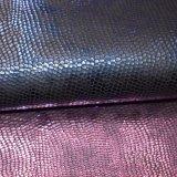 Tela de couro gravada malogrado do poliéster do plutônio do falso para o saco da sapata