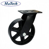 Kundenspezifisches graues Gussteil-Roheisen-industrielles Fußrollen-Rad von der Gießerei
