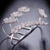 De bladvormige Open Armband van de Hand van de Partij van het Huwelijk van de Armbanden van de Palm van het Manchet