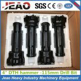"""115mmの4 """"インチDTHのハンマーのための高い空気圧DTHのドリルボタンビット"""