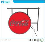 Das Bekanntmachen des LED-Bildschirmanzeige-im Freien/runde Form-Bildschirm-bekanntmachen Zeichen-/LED