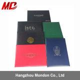 Hermoso color suaves de cuero de rollos de papel fabrica certificado personalizado Titular / cubierta Zip