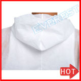 Одноразовые Coverall белого цвета с Открытого запястья и щиколотки