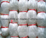 白い単繊維の釣り道具のナイロン魚のネット