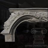 Il prezzo basso ha scavato i disegni di marmo del camino coltivati camino di marmo naturale