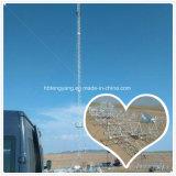 Installatie op Toren van de Telefoon van de Cel van de Draad Guyed van de Grond de Driehoekige