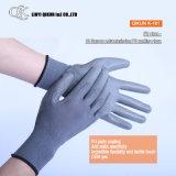 Poliéster dos calibres K-159 13/luvas de trabalho revestidas plutônio segurança do nylon