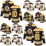 2018 Nova Marca homens Boston Bruins 22 Peter Cehlarik 10 Anders Bjork 81 Anton Blidh 18 Kenny Agostino 39 Matt Beleskey Hockey camisolas