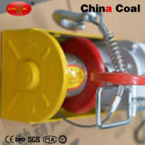 Grua elétrica aérea pequena da polia Chain da corda