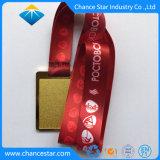 Custom Gold Medal of Honor prêmio corrida corrida de metal com fita