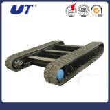 escavadora de rastos material rodante com esteira de anexos