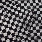 Synthetische Seide druckte Rasterfeld-Funkeln PU-Leder für Beutel-Schuh