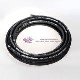 Boyau en caoutchouc hydraulique flexible tressé de fibre de SAE100 R3 R6