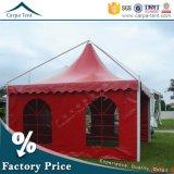 6X6, 8X8m красного ПВХ пагода палатка в рамке для мероприятий на открытом воздухе или устроить пикник