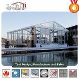 De Tent van de Markttent van het huwelijk met de Transparante Zijwanden van het Dak en van het Glas