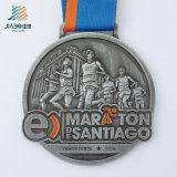 Изготовленный на заказ мягкая отливка Kickboxing сплава эмали резвится медали медальонов