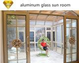 Hot Sale Non- rupture thermique en aluminium avec double porte coulissante en verre de conception