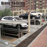 La familia simple y el uso comercial del sistema de aparcamiento subterráneo en foso