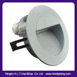 Rundes u. quadratisches LED-Jobstepp-Licht, LED-Fußboden-Licht, LED vertiefte Wand-Licht,