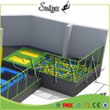 Крытые обновленные превосходные гимнастические Trampolines зоны скачки для оборудования