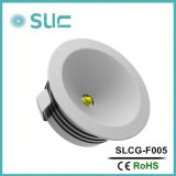 1W Round Sliver Aluminum Modern Kitchen Cabinets Light
