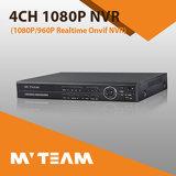 Soporte 2 SATA HDD 4 CH grabador NVR para cámaras IP Seguridad P2p CCTV IP Recorder NVR con PTZ