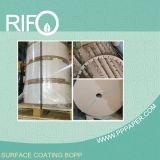 Impermeable y resistente al rasgado blanco perla BOPP Pearlized papel para las películas de embalaje