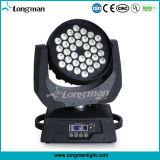 ディスコのためのIP20 DMX 36*10W RGBW LEDのビーム移動ヘッド