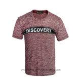 T-shirt de la mode des hommes occasionnels de Zipp de logo de coton avant d'impression