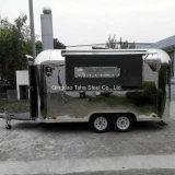 Kiosque mobile d'aliments en acier inoxydable