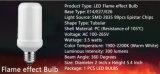 AC100-240V E27 E26 6W da Base de LED de 7 W com lâmpada de Chama 1300-3000K com driver de Corrente Constante e Sensor de gravidade