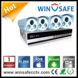 屋外の機密保護NVRキット4CH IPの弾丸のカメラ
