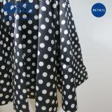 Новые моды Right-Bowknot длинный тонкий платье с Polka точек