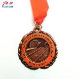 2018 de recuerdos personalizada Memorial de la medalla de metal con correa de cinta