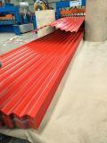 lamiera di acciaio ondulata del tetto di 0.125-0.8mm per materiale da costruzione