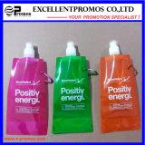 Bottiglia di acqua pieghevole su ordinazione poco costosa popolare promozionale (EP-B7154)