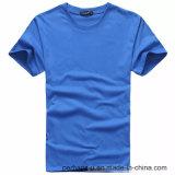 Maglietta pura all'ingrosso del cotone di colore con il marchio su ordinazione