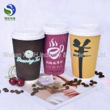 Mayorista de China de papel de pared doble taza personalizada con tapa
