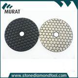 """4 """" Plaquettes de polissage de diamants de la résine à sec pour le granite et de marbre"""