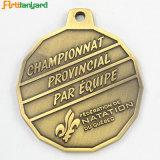 Custom Award металлические медаль с серебристым покрытием