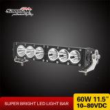 """60W 11,5"""" na barra de luz LED de alta potência com feixe diferentes"""