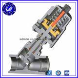 Doble acción DN50 Acero Inoxidable 316L neumática Válvula de asiento de cierre de ángulo