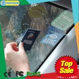 Cartão de para-brisa EPC Gen2 Ucode plástico UHF RFID de Impressão do Cartão de Estacionamento