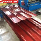 Hoja de techado Pre-Painted ondulado en el precio más favorable