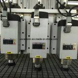 Router di CNC della struttura d'acciaio della saldatura con quattro strumenti degli assi di rotazione